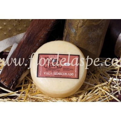 Medio queso de vaca 350 g.- Flor del Aspe