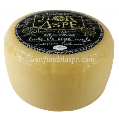 Queso de Oveja 800 gr Leche Cruda - Flor del Aspe