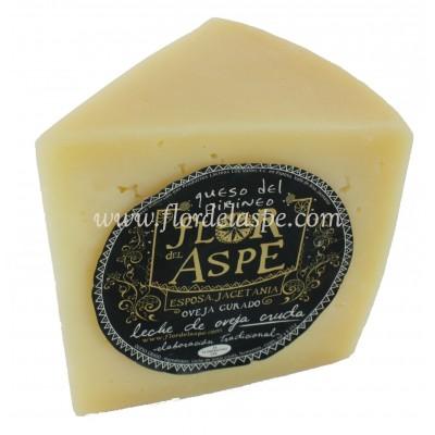 Queso de Oveja 375 gr Leche Cruda Cuña - Flor del Aspe