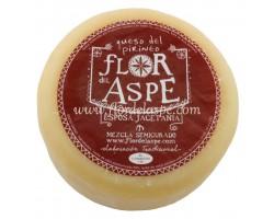 Queso mezcla (vaca-oveja) semicurado 700 g-Flor del Aspe